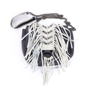 Sam Edelman Donna Crossbody Purse Leather Fringe